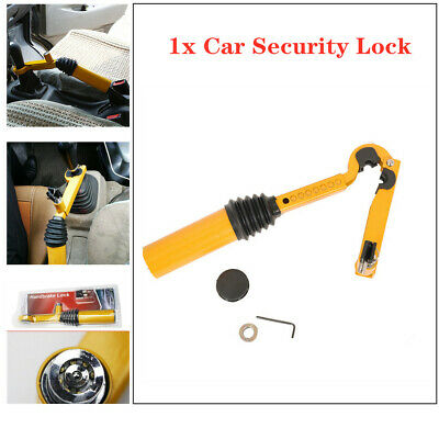 8-Hole Car Gear Shift Handbrake Lock Anti-theft Security Safety Stainless Steel