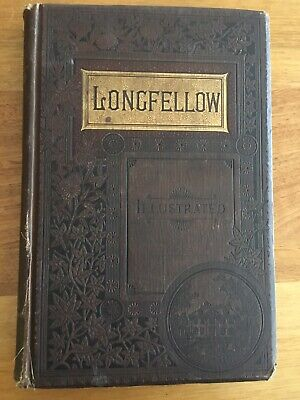 Antique Book Of Poems By Longfellow