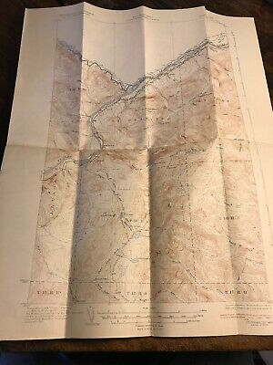 1933 St. Francis, ME Maine USGS Topographic Topo Map War Department