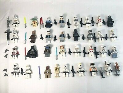 Lego Star Wars Minifigure Army Lot - Clone Troopers, Storm Troopers, Jedis