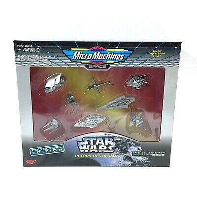 Star Wars Micro Machines Silver Collector's Edition Return of the Jedi Set MIB