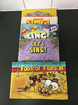 7 x Comics The Wizard Of ID Lets Sing & Footrot Flats Collectors