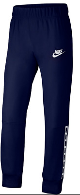 Nike Activewear Tape Jogging Bottoms Girls Size UK 13-15 Years Navy *REF101