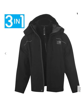 KARRIMOR Charcoal 3 in 1 Jacket Junior Unisex Size UK 7-8Years *REF101