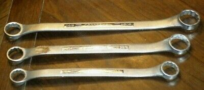 """Lot (3) CRAFTSMAN Heavy Equipment Closed Box Wrenches V-Series 12-Pt. 1-1/4"""""""