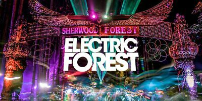 1 2 3 4 6 8 Electric Forest 2020 4Day Pass Ticket 6/25-6/28 Decade One Wristband