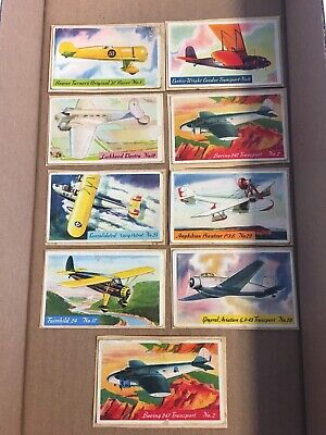1935 HEINZ FAMOUS AIRPLANE Trading Card Lot of 9 Poor Condition Vintage Original
