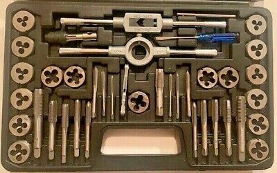 M6-M12 Set per filettatura 11PCS Kit set maschi e filiere in Acciaio Set inserti per filettatura