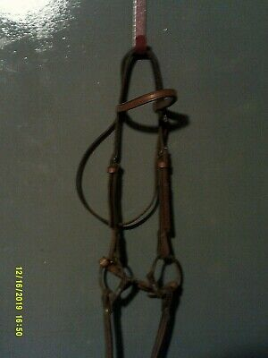 Tough 1 Bridle Complete Draft Western Snaffle Leather Black 42-9745