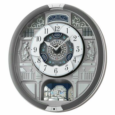 Seiko Melodies In Motion Wall Clock with 18 Hi Fi Melodies - QXM366SRH