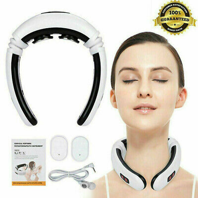 Electric Cervical Neck Pulse Massager Body Shoulder Muscle Relax Relieve Pain HH