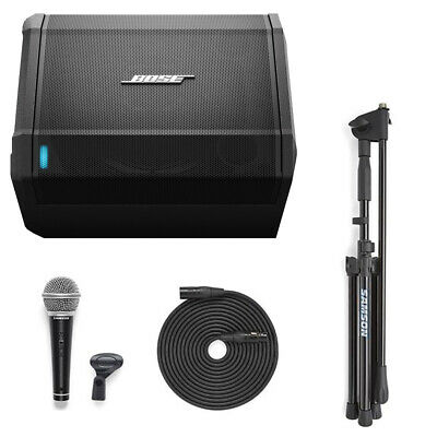 Bose 1 Pro Speaker with VP10X Microphone Value Pack Stand Mic and Cable