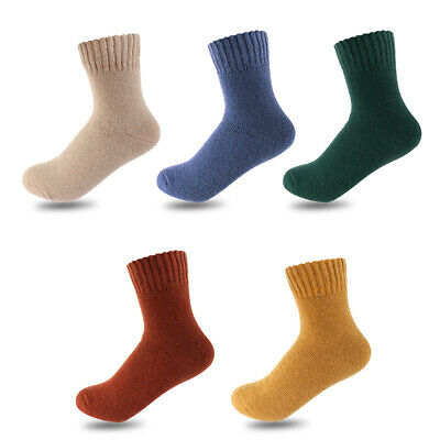 Mens Thermal Casual Thicken Hiking Winter Warm Wool Socks Cashmere Hosiery