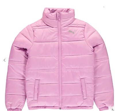 PUMA Padded Jacket Junior Girls Orchid Size UK 7-8 Years *REF105