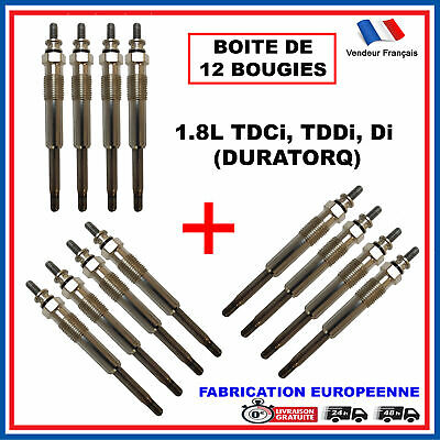 12 Bougies Préchauffage Ford GN993 0100226384 0250202131 GLP024 Y-524J GN993