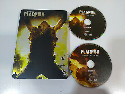 Platoon Oliver Stone Willem Dafoe Sheen - 2 x DVD Steelbook Español English - 3T