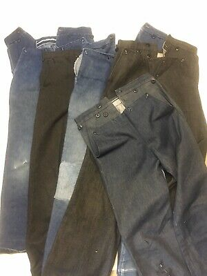 Amish Homemade Handmade Pants Trousers Boys Worn Lot Of 5
