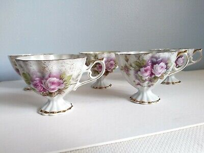 France Art Deco Porcelain, Antique, Vintage Tea Coffee Cup ,Floral European