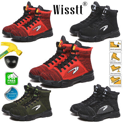 Men's Work Steel Toe Boots Safety Shoes Indestructible Outdoor Hiker Sneakers US