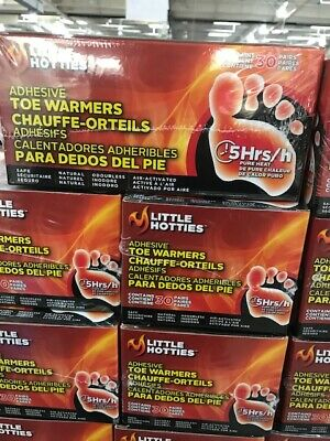Little Hotties Toe Warmers Winter Outdoor Cold Heat Odorless and Air-Activated