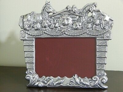 Retired 2008 ARTHUR COURT Noah's Ark Picture Frame - Holds 4 x 6 Photo HTF