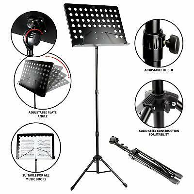 RockJam G905 Height & Angle Adjustable Orchestral Conductor Sheet Stand Matte...