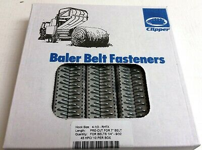 Clipper Belt Hook Lacing Baler Belt repair fasteners 4-1/2 Round Tensile