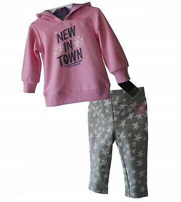 Converse baby girls tracksuit hoody & joggers pink sizes from 12 ,18 ,24 months