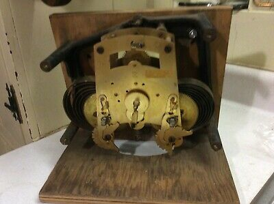 Antique Seth Thomas? Time Recorder Clock Movement USA With Mounting Bracket