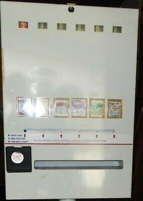 Condom Vending Machine Six Selections Retail Bathroom Dispenser Used