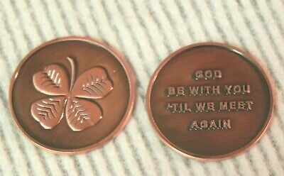 St 100 Four-Leaf Lucky Clover Lead-Free Pewter Pocket Token Patrick/'s Day