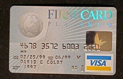First Card Visa credit card exp 1999♡Free Shipping♡ cc501
