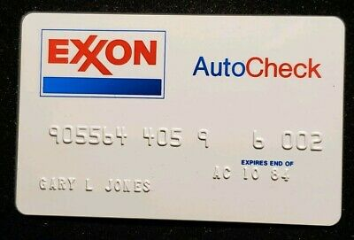 Exxon AutoCheck Credit Card exp 1984♡Free Shipping♡cc512