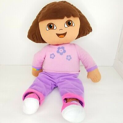 "Dora The Explorer Jumbo Plush Stuffed Doll 24"" Large 2006 Fisher Price"