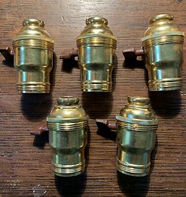 """5 Vintage NOS  O C White Industrial Lamp Sockets Light Fixure 3/8""""IPS (5/8"""")"""