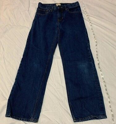Boys Gap Kids Size 12 Regular Loose Fit Straight Leg Jeans Blue Zipper Pockets