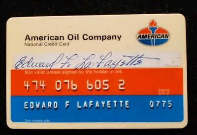 American Oil Company credit card exp 1975♡Free Shipping♡cc526