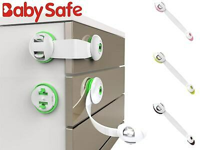 5/10X Child Kids Baby Safety Lock For Door Drawers Cupboard Cabinet Adhesive