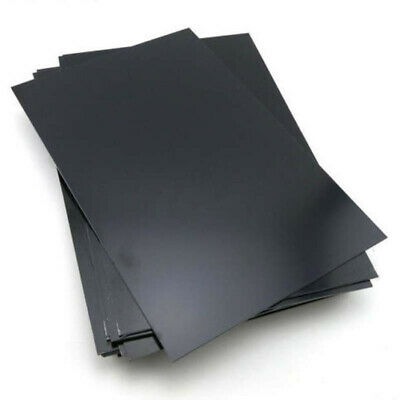 1Pc 1mm Black Thickness ABS Styrene Plastic Flat Sheet Plate 200mmx300mm New #w1