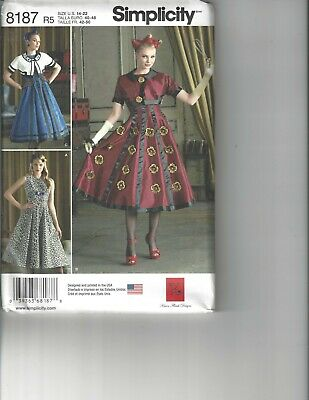 Simplicity 8187 Costume Pattern Misses Flared Dress Jacket Dr Who TARDIS 6-14