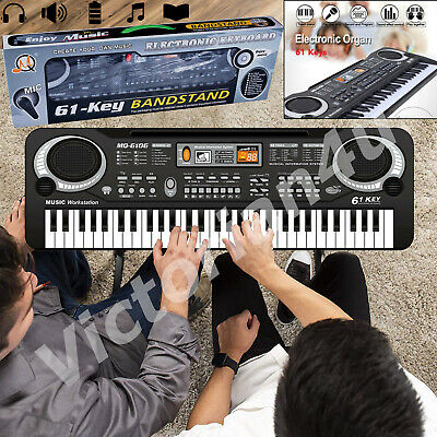 61 Keys Digital Electronic Electric Piano Music Keyboard Organ & Mini Microphone