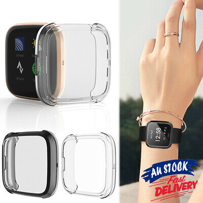 Fitbit Versa Cover Frame Full Soft Screen for Shell Protector Silicone TPU Case