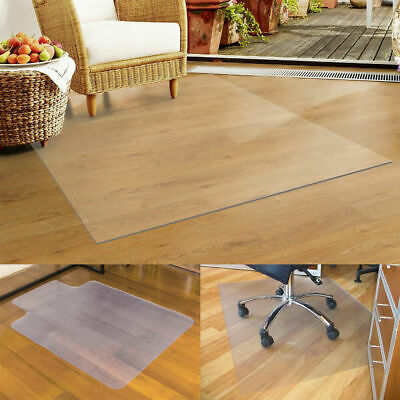 120x120cm Nonslip Home Office Chair Desk Mat Floor Carpet Protector PVC Clear CE
