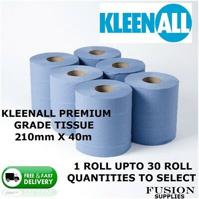 Blue Paper Rolls 2 Ply,Centrefeed Rolls,Catering,Workshop, Kitchen,Blue Rolls