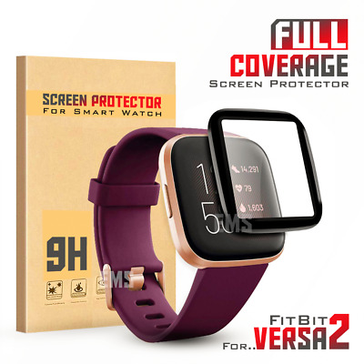 For Fitbit Versa 2 2019 Screen Protector 9H Tempered Full Coverage Glass Guard