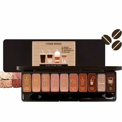 Etude House Play Color Eyes Korean Eye Shadow Palette 10 Color Caffeine Holic