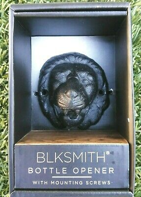 Blksmith Bottle Opener Lion Head Cast Iron Premium Bareware Black New N Box