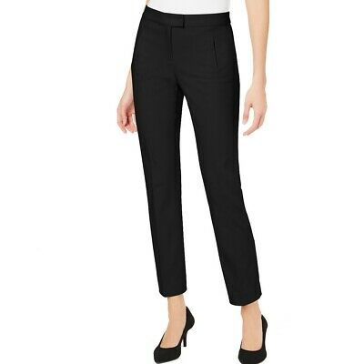 ALFANI NEW Women's Solid Tummy-control Slim-leg Dress Pants TEDO