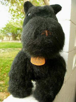 "EARRINGS & SCOTTIE Dog Stuffed Animal Scottish TERRIER DAKIN 17"" L JOINTED READ"