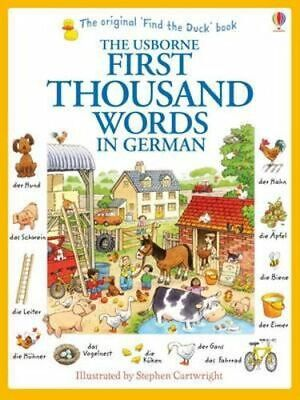 NEW First Thousand Words in German By Heather Amery Paperback Free Shipping